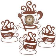 Metal Coffee Cup Décor Value Set