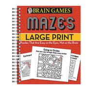 Brain Games™ Large Print Mazes
