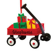 Personalized Wagon with Gifts Ornament