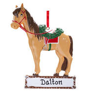 Personalized Horse with Saddle Ornament