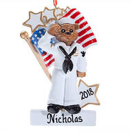 Personalized Navy Bear Ornament