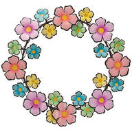 Metal Flower Wreath by Fox River™ Creations