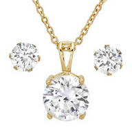 CZ Earring and Necklace Set