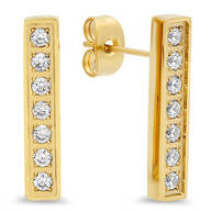 CZ Bar Earrings