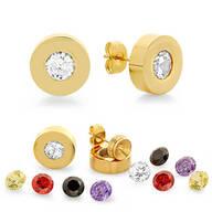 Interchangeable CZ Stud Earrings