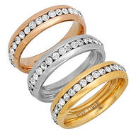 CZ Eternity Band Rings, Set of 3