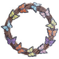 Grapevine Wreath with Butterfly Accents