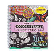 Adult Color & Frame Inspiration Coloring Book