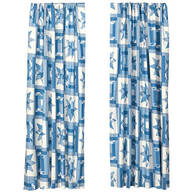 Star Quilt Print Energy Saving Curtains