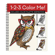 1-2-3 Color Me Owl Coloring Book