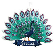 Personalized Peacock Ornament