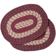 Burgundy Braided Placemats, Set of 2