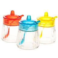 Glass Jars with Spoons 3-Piece Set by Home-Style Kitchen