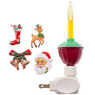 Bubble Night Light with Christmas Clips