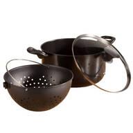 Non-Stick Easy-Strain Pot, 3 pieces