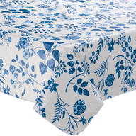 Flowing Flowers Vinyl Tablecovers By Home-Style Kitchen™