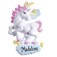 Personalized Unicorn Ornament
