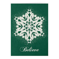 Personalized Believe Christmas Card Set of 20
