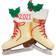 Personalized Vintage Skates Ornament