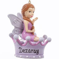 Personalized Purple Fairy Ornament