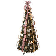 6-Foot Fully Decorated Victorian Pull-Up Tree by Holiday Peak™