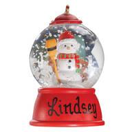 Personalized Snowman Waterglobe Ornament
