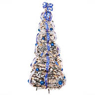 6-Foot Fully Decorated Flocked Pull-Up Tree by Holiday Peak™