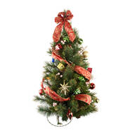 Glittering Scotch Pine Pre-Lit Wall Tree by Northwoods™