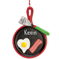 Personalized Bacon and Eggs Ornament