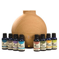 Healthful™ Naturals Deluxe Essential Oil Kit & 600 ml Diffuser