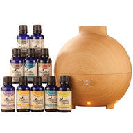 Healthful™ Naturals Premium Essential Oil Kit & 600 ml Diffuser