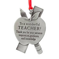 Teacher Pewter Ornament