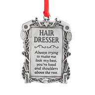 Hair Dresser Pewter Ornament