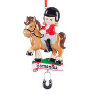 Personalized Horse Rider Ornament