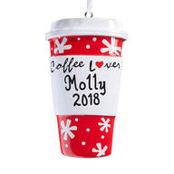 Personalized Coffee Lover Ornament