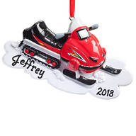 Personalized Snowmobile Ornament