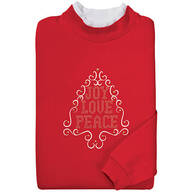 Festive Tree With Rhinestones Sweatshirt By Sawyer Creek Studio™