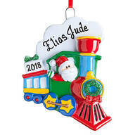 Personalized Santa Train Ornament