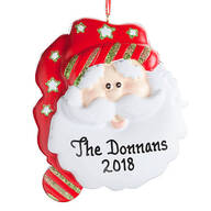 Personalized Christmas Santa Ornament