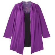 Two-in-One Top with 3/4-Length Sleeves By Sawyer Creek Studio™