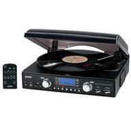 Jensen® 3 Speed Turntable with AM/FM Radio & MP3 Encoding