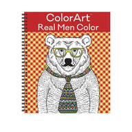 "Color Art ""Real Men Color"" Coloring Book"