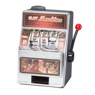 Small Slot Machine with Lights and Bank