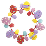 Metal Easter Egg Wreath by Maple Lane Creations™