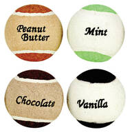 Assorted Flavored Tennis Balls, Set of 4