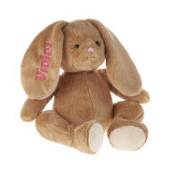 Personalized Brown Plush Easter Bunny