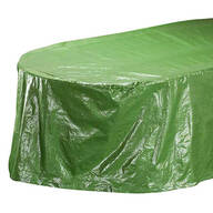 "Table Cover Oval, 108""L x 30""H x 84""W"