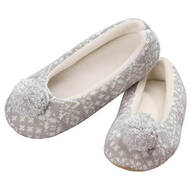 Nordic Style Ballet Slippers with Pom Pom