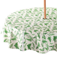 Garden Greenery Zippered Umbrella Table Cover