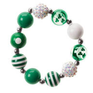 St. Patrick's Day Bling Stretch Bracelet